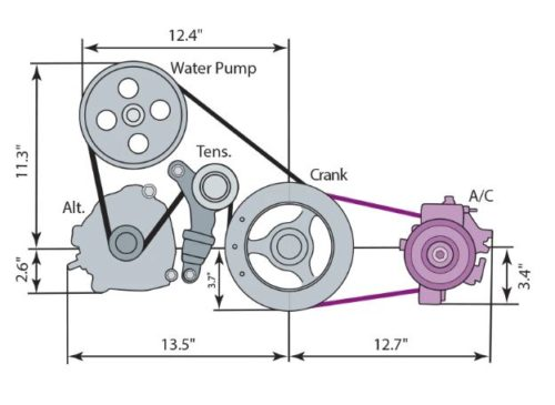 12678595 lt1 camaro wet sump accessory drive